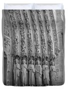 Notre Dame Doorway Detail Paris France Duvet Cover