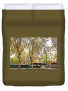 Notre Dame From The Window Duvet Cover