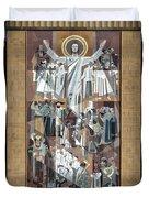 Notre Dame's Touchdown Jesus Duvet Cover