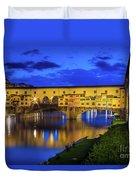Notte A Ponte Vecchio Duvet Cover