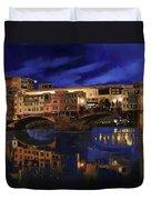 Notturno Fiorentino Duvet Cover by Guido Borelli