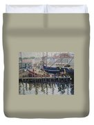 Nova Scotia Boats At Rest Duvet Cover