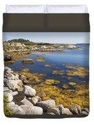 Nova Scotia Seascape Duvet Cover