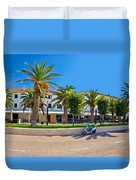 Novalja On Pag Island Palm Waterfront View Duvet Cover