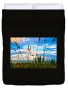 November Day At The Beach In Florida Duvet Cover by Susanne Van Hulst