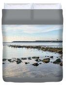 November Seascape 5 - Lyme Regis Duvet Cover