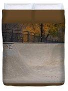 November Skatescape #4 Duvet Cover