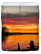 November Sunset Manasquan Reservoir Nj Duvet Cover