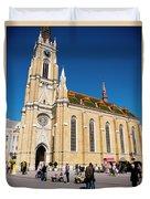 Novi Sad Cathedral Duvet Cover