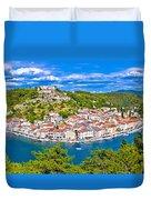 Novigrad Dalmatinski Waterfront And Bay View Duvet Cover