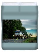 Ns 62w With Blurred Flowers Duvet Cover