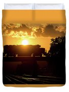 Ns Local At Sunset Duvet Cover