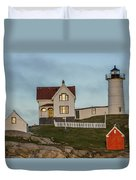 Nubble At Sunset Duvet Cover