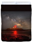 Nubble Light Milky Way Rising Duvet Cover