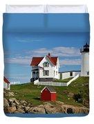 Nubble Lighthouse - D002365 Duvet Cover