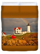 Nubble Lighthouse Duvet Cover