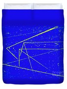Nuclear Particle Tracks Duvet Cover