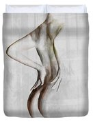 Nude Abstract Greys 2 Duvet Cover