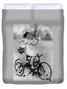 Nude And Bicycle, C1900 Duvet Cover