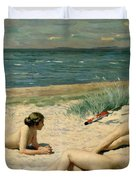Nude Bathers On The Beach Duvet Cover