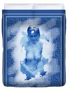 Nude In Blue Duvet Cover