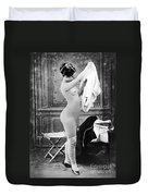 Nude In Stockings, C1880 Duvet Cover