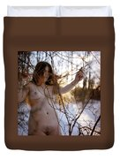 Nude In The Snow Duvet Cover