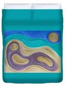 Nude On Beach Duvet Cover