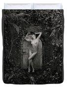 Nude Woman And Doorway Duvet Cover