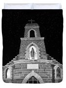 Nuestra Senora De Refugio, Illuminated By The Moon And Yard Lig Duvet Cover