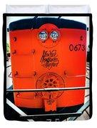 Number 0673 Train Duvet Cover