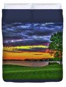 Number 4 The Landing Reynolds Plantation Golf Art Duvet Cover