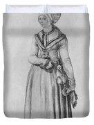 Nuremberg Woman In House Dress Duvet Cover