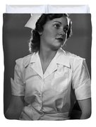 Nurse Rembrandt Lighting Duvet Cover
