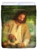 Nurtured By The Word Duvet Cover by Greg Olsen