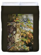 Nuthatch And Creeper Duvet Cover