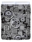 Nuts And Bolts Duvet Cover by Eleni Mac Synodinos