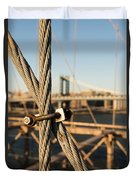 Nuts And Bolts Of The Brooklyn Bridge Duvet Cover