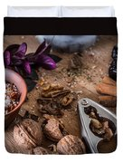 Nuts And Spices Series - Three Of Six Duvet Cover