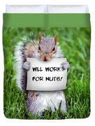 Nutty Squirrel Duvet Cover