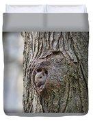 Nutty Squirrel Surprise  Duvet Cover