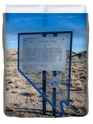 Nv-142 Old Spanish Trail Mountain Springs Pass Duvet Cover