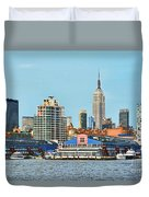 Ny Skyline And Chelsea Piers Duvet Cover