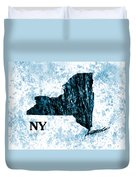 Ny State Map  Duvet Cover