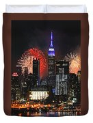 Nyc 4th Of July Fireworks Duvet Cover
