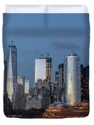 Nyc And Staten Island Ferry Duvet Cover