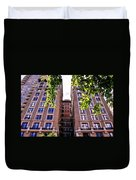 Nyc Building With Tree Overhang Duvet Cover