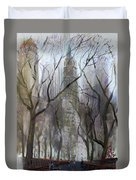 Nyc Central Park 1995 Duvet Cover