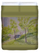 Nyc Central Park. Spring Duvet Cover