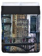 Nyc Crossings Daily Life Children  Duvet Cover